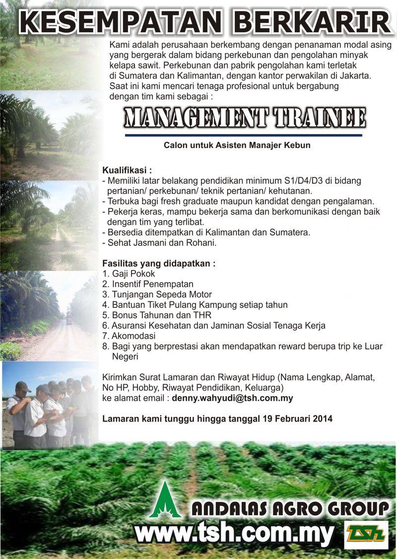 Andalas Agro Group Lowongan Fakultas Pertanian Peternakan