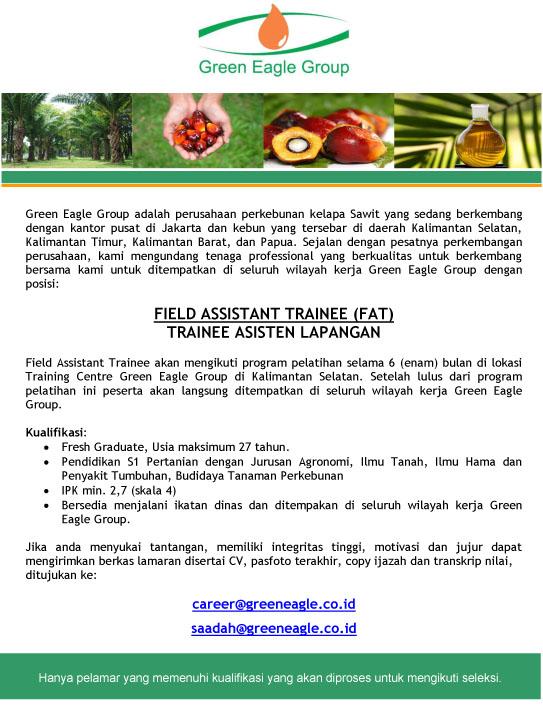 Green Eagle Group Lowongan Fakultas Pertanian Peternakan